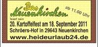 ...<klicken> für Informationen über das Kortoffelfest auf Schröers-Hof in Neuenkirchen...